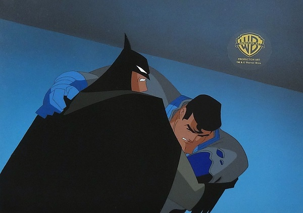"Batman ""Worlds Finest Part Three - Batman and Superman"" Original Production Cel 27 x 30 cm"