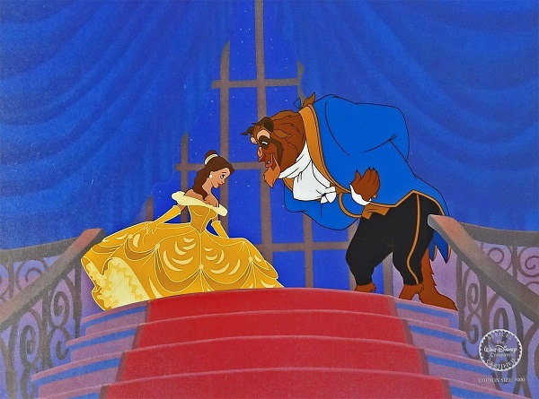 "Beauty and the Beast ""At the ball"" Sericel 32 x 40 cm © Disney"