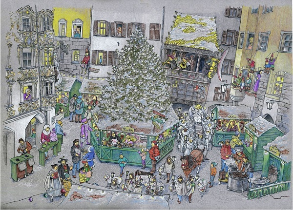 Bettina Egger, Christkindlmarkt, Unikat