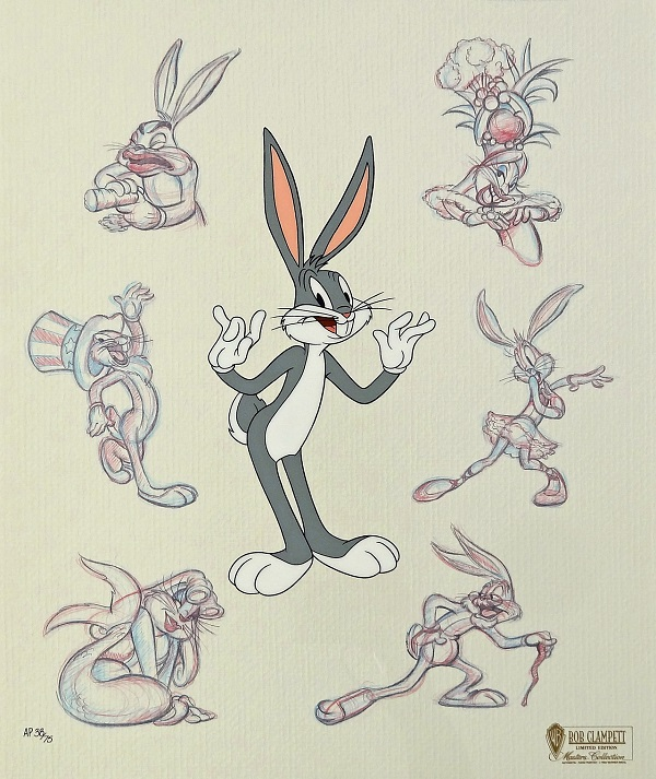 "Looney Tunes ""Bugs Persona"" Hand Painted Limited Edition (750) 42 x 35 cm © Warner Bros."
