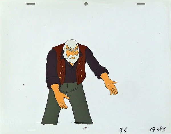 "Heidi - A Girl of the Alps ""Almöhi (grandpa)"" Original Production Cel 27 x 32 cm © Warner Bros."