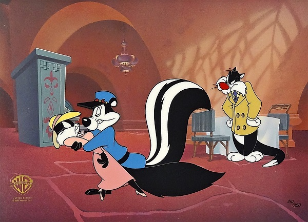 "Looney Tunes ""Pepe le pew - Carrotblanca"" Limited Edition Cel 26 x 34 cm © Warner Bros."