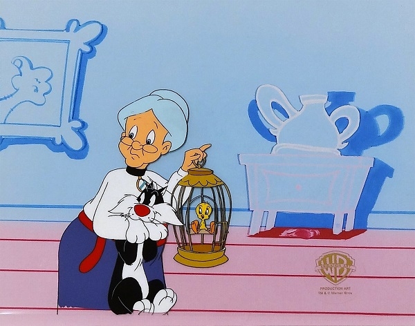 "Looney Tunes ""The Silvester and Tweety Mysteries - Moscow Side Story"" Original Production Cel 27 x 30 cm © Warner Bros."
