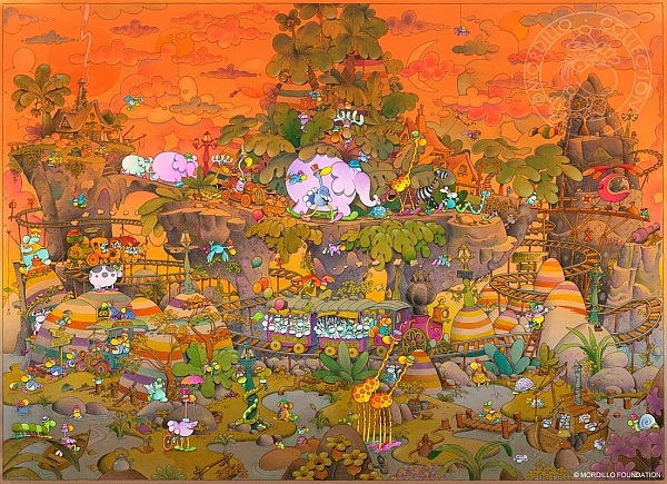"Mordillo ""Animal Island"" Fine Art Print 58 x 74 cm"