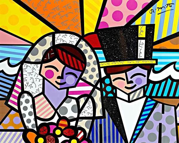 "Romero Britto ""Honeymoon at Sea"" Siebdruck 60 x 70 cm"
