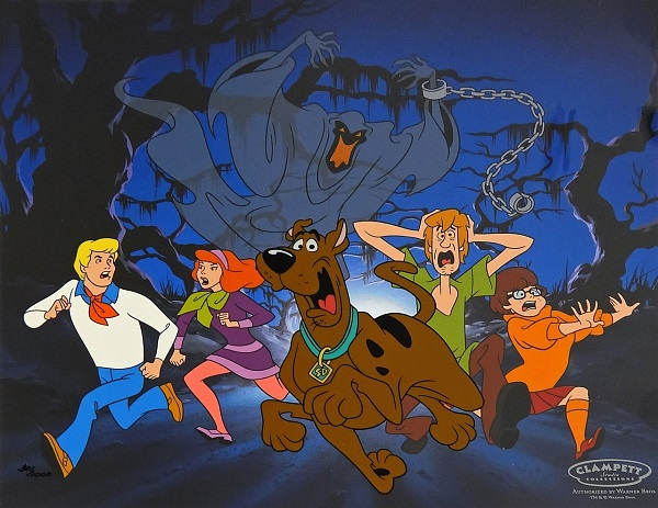 "Scooby Doo ""Relp its a green Ghost"" Sericel Limited Edition (1000) 30 x 34 cm © Warner Bros."