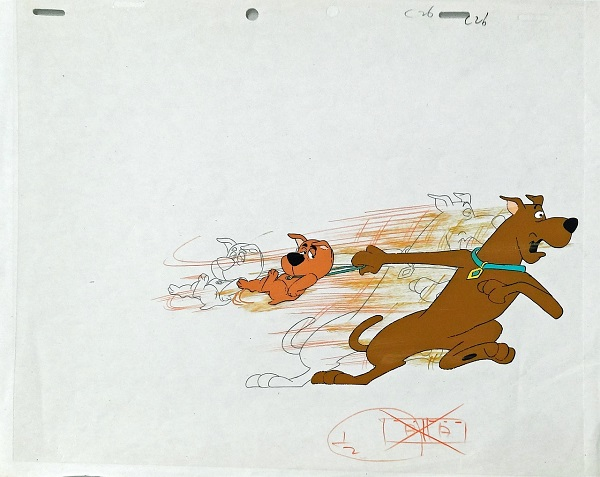 "Scooby Doo ""Scooby and Scrappy Doo"" Original Production Cel Original Production Drawing 27 x 32 cm © Warner Bros."