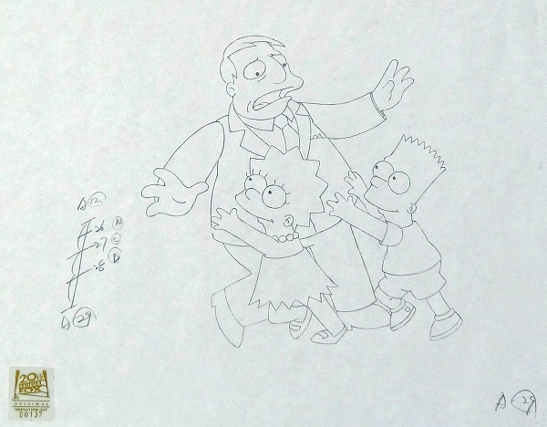 "Simpsons ""Lionel Hutz"" Pencil Drawing 28 x 36 cm © FOX"