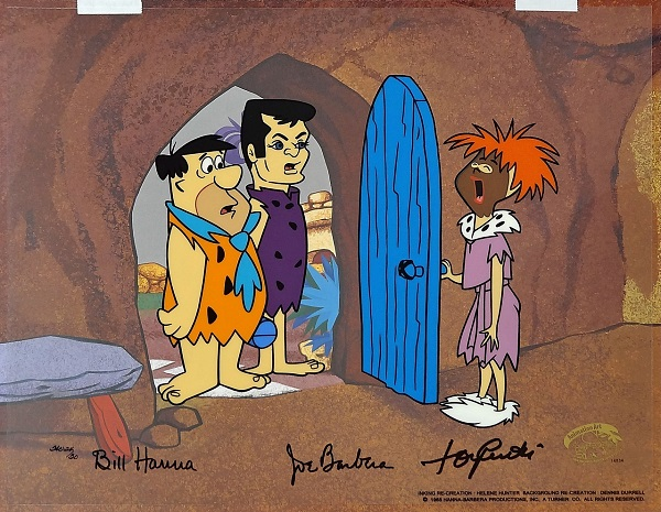 "The Flintstones ""The Return of Stony Curtis"" Hand Painted Limited Edition (300) Cel on a lithographic background 34 x 42 cm © Warner Bros."