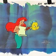 """Ariel and Flounder"" Television Art 1990s Original hand painted Production Cels Unique Piece 28 x 34 cm"