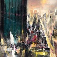 "Bernhard Vogel ""NY midtown (driving lives)"" mixed media 50 x 70 cm"