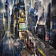 "Bernhard Vogel ""NY Times Square J.P.D."" Mixed Media 100 x 80 cm"