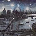 "Bernhard Vogel ""Mystical London"" mixed media 50 x 100 cm"