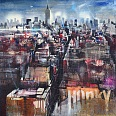 "Bernhard Vogel ""NY East Village"" mixed media 100 x 120 cm"