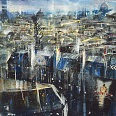 "Bernhard Vogel ""Paris Madeleine"" Mixed Media  90 x 140 cm"
