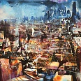 "Bernhard Vogel ""NY Looking Downtown (Peter)"" Mixed Media 70 x 100 cm"