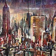 "Bernhard Vogel ""NY Midtown (The man with no shame)"" Diptychon Mixed Media 80 x 100 cm"