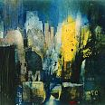 "Bernhard Vogel ""NY by night"" Radierung 25 x 35 cm"