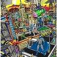"Charles Fazzino ""Batman rules the night"" 3D Siebdruck 80 x 60 cm"