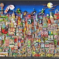 "Charles Fazzino ""Bright Lights...Big City...Broadway!"" 3D-Siebdruck 70 x 90 cm"