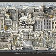 "Charles Fazzino ""Harlem and all that Jazz"" 3D-Siebdruck 55 x 70 cm"