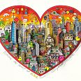 "Charles Fazzino ""Invading The Heart Of NYC"" 3D-Siebdruck 50 x 60 cm"