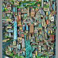 "Charles Fazzino ""Liberty Stands In The Center Of It All NYC"" 3D-Siebdruck"