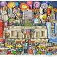 "Charles Fazzino ""New York's Grand Celebration"" 3D-Siebdruck 51 x 72 cm"