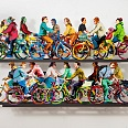 "David Gerstein ""City Riders"" wallsculpture 72 x 120 cm"