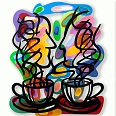 "David Gerstein ""Tea for two"" wallsculpture 80 x 66 cm"