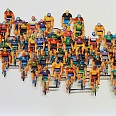 "David Gerstein ""Tour de France H"" papercut 56 x 76 cm"