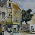 "Heinz Hofer ""Mallorca Porto Colom"" 2005 Aquarell 50 x 60 cm Aug64 017"