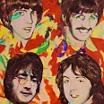 "James Francis Gill ""Beatles Four"" 2008 Acryl auf Leinwand 57,5 x 45,5 cm"