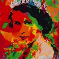 "James Francis Gill ""Her Majesty 1"" Siebdruck 70 x 50 cm"