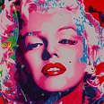 "James Francis Gill ""Pink Marilyn"" Siebdruck 70 x 50 cm"