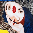 "James Francis Gill"" Portrait of the Surrealist Woman"" 2001 Acryl auf Leinwand 124 x 90 cm"