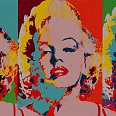 "James Francis Gill ""Three Faces of Marilyn"" Siebdruck 70 x 110 cm"