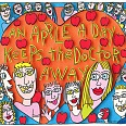 "James Rizzi ""An Apple A Day Keeps The Doctor Away"" 3D Siebdruck 30 x 40 cm"