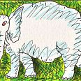 "James Rizzi ""An Elephant never forgets"" 3D-Sebdruck 5 x 7,6 cm"