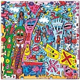 "James Rizzi ""Bronx Beat"" 3D-Siebdruck 15 x 15 cm"