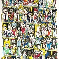 "James Rizzi ""Cafe in Paris"" 3D-Siebdruck 36 x 28 cm"