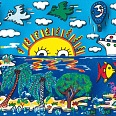"James Rizzi ""Cruising with love"" 3D-Siebdruck (drucksigniert) 24 x 30 cm"