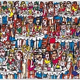 "James Rizzi ""Eating out with friends"" 3D Siebdruck 15 x 20 cm"