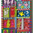 "James Rizzi ""Free As A Bird"" 3D Siebdruck (drucksigniert) 26 x 10 cm"