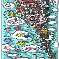 "James Rizzi ""Gone With The Wind"" 2005, 3D Siebdruck 30 x 40 cm"