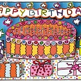 "James Rizzi ""Happy Birthday"" 2013 3D Siebdruck (drucksigniert) 6,9 x 10 cm"