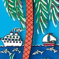 "James Rizzi ""Love in the tropics"" 3D- Siebdruck (drucksigniert)  20 x 30 cm"