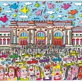 "James Rizzi ""Meet Me At The Met"" 3D Siebdruck (drucksigniert) 28 x 41 cm"