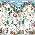 "James Rizzi ""Mountains of fun"" 3D Siebdruck 27 x 38 cm"