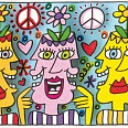 "James Rizzi ""Potheads Of Love""  3D Siebdruck 5,3 x 8,6 cm"